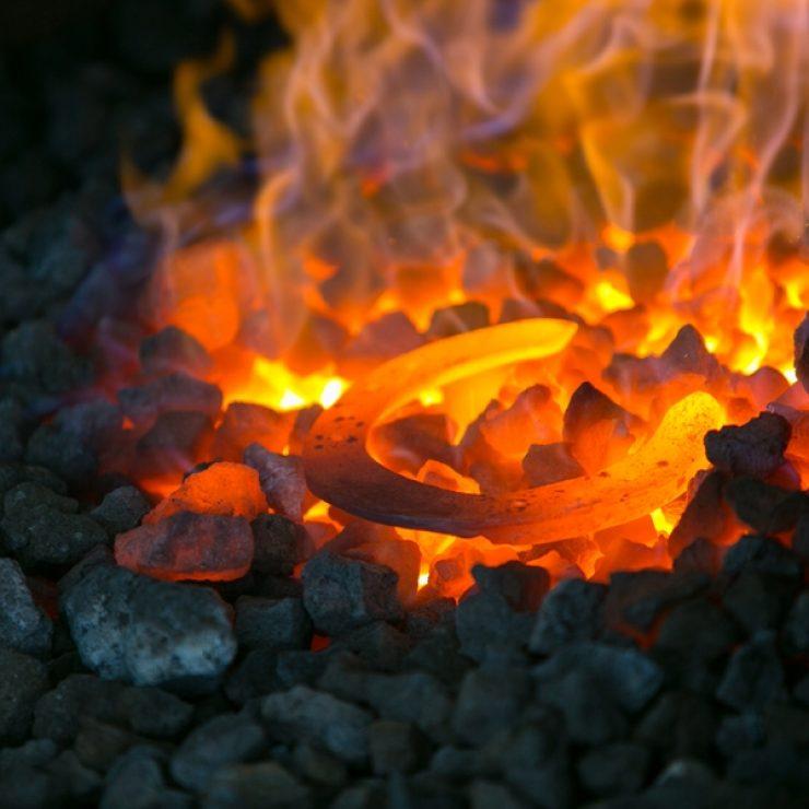 Horse Shoe In Fire